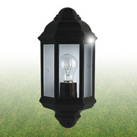 Searchlight 280BK Economy Outdoor Half Lantern Black
