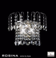 Diyas IL31052 Rosina 2 Light Crystal Wall Light