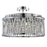 Searchlight 8335-5CC Elise Ceiling Pendant Polished Chrome