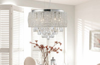 Diyas IL31161 Adeline 6 Light Crystal & Chrome Ceiling Light