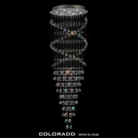 Diyas IL31375 Colorado 10 Light Crystal Ceiling Pendant