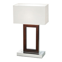 Endon 0195-DW Portal Dark Wood Table Lamp