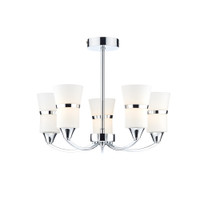 Dar DUB0550/LED Dublin 5 Light LED Ceiling Light Polished Chrome