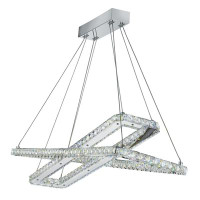 Searchlight 7123CC Clover LED Crystal Pendant