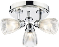 Dar CED7638 Cedric 3 Light Bathroom Ceiling Light