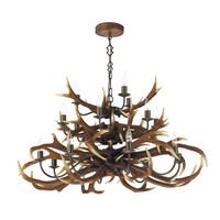 David Hunt ANT1729 Antler 17 Light Tiered Pendant