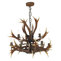 David Hunt ANT1329 Antler 9 Light Tiered Pendant