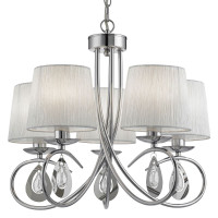 Searchlight 1025-5CC Angelique 5 Light Modern Ceiling Pendant