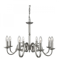 Searchlight 1508-8SS Richmond 8 Light Ceiling Pendant Satin Silver