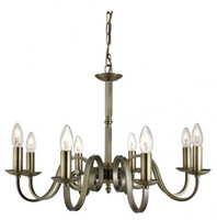 Searchlight 1508-8AB Richmond 8 Light Ceiling Pendant Antique Brass
