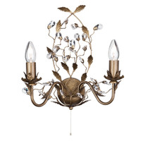 Searchlight 2492-2BR Almandite Bronze Gold Wall Light