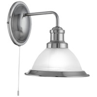 Searchlight 1481SS Bistro 1 Light Wall Light Satin Silver