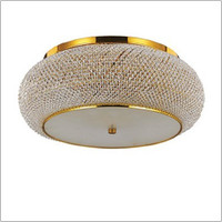 IDEALLUX 100791 Pasha PL10 10 Light Flush Gold