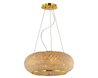 IDEALLUX 082257 Pasha SP10 10 Light Pendant Gold
