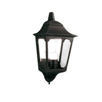 Elstead CP7/2 Chapel Half Wall Lantern Black
