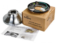 Fantasia Elite Flush Mount Kit For Viper Fans Stainless Steel