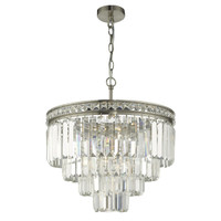 DAR VYA0438 Vyana 4lt Tiered Pendant Satin Nickel