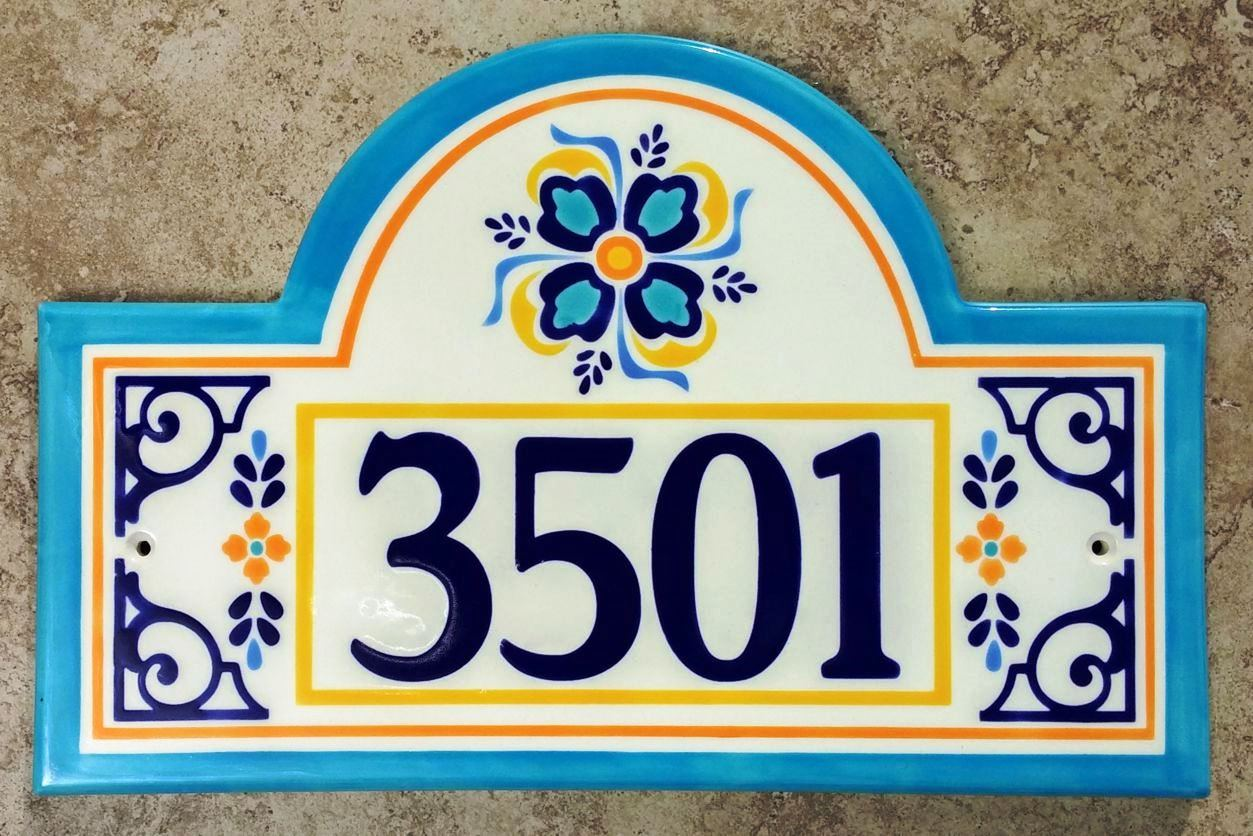 Address plaques gallery ceramic address plaques ceramic house barcelona house plaque 2016g dailygadgetfo Choice Image