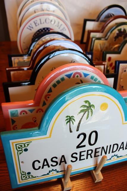 custom ceramic address plaques house number signs artistic. Black Bedroom Furniture Sets. Home Design Ideas