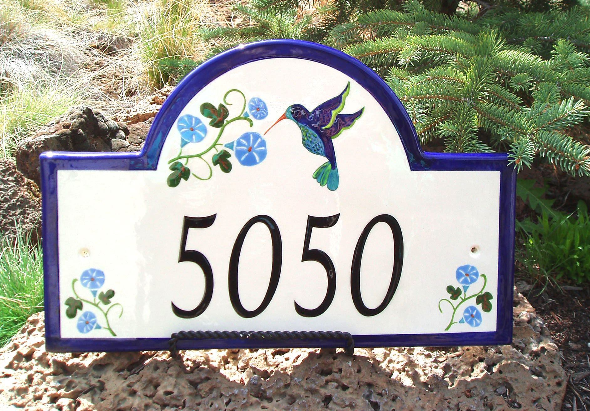 Address plaques gallery ceramic address plaques ceramic house i received our tuscany style house number plaques last evening i think they are spectacular thanks for a wonderful unusual product dailygadgetfo Choice Image