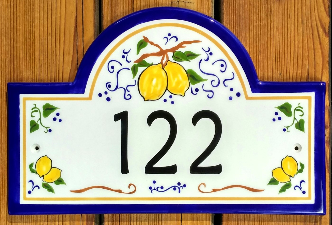 Address plaques gallery ceramic address plaques ceramic house lemons from umbria house numbers 2016 dailygadgetfo Choice Image