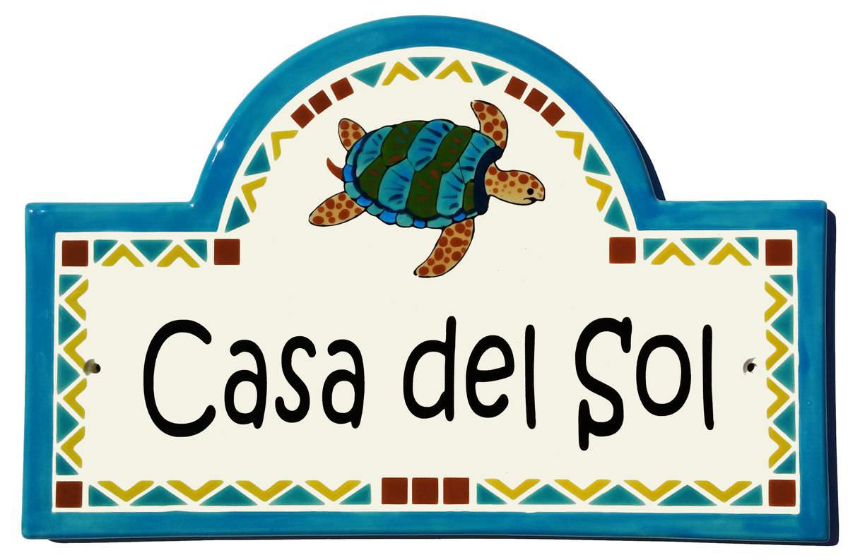 Address plaques gallery ceramic address plaques ceramic house mexican sea turtle address plaqueg dailygadgetfo Choice Image
