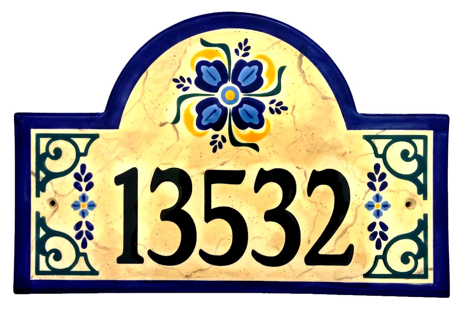 Address plaques gallery ceramic address plaques ceramic house old spanish style plaque 2015g dailygadgetfo Choice Image