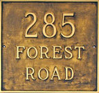 Square Address Plaque. Grande Size