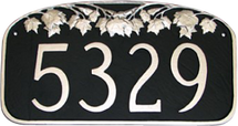 Maple Leaf Address Plaque