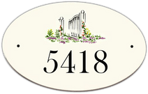 Wildflowers Oval House Number Signs