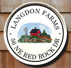 Farm Name Sign with Address or Your Own Choice of Personalization