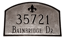 Fleur-de-Lis Arch Address Plaque