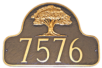 Oak Tree Address Plaque