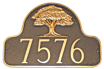 decorative address plaque presented with house numbers - Decorative House Numbers