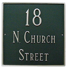 Large Address House Number Plaque - Square