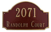 Decorative Address Plaque