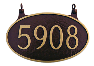 Two Sided Oval House Number Plaque