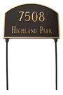 Two Sided Address Plaque - Arch. Rust Free Cast Aluminum Lawn Stakes are Included for No Additional Charge