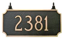 Two Sided Hanging Address Plaque - Rectangle