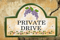Private Drive Sign