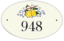 Lemons Oval House Number Signs