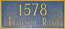 Classic Rectangle Address Plaque