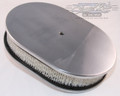 "12"" Smooth Polished Aluminum Oval Air Cleaner: Polished"