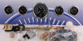 """VDO SERIES 1 - 5 gauge electric kit with GM transmission sender and 3 3/8"""" speedometer"""