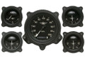 Moal Bomber Series Five Gauge Set with Bomber Bezels - Classic Instruments - MA00BLFBZ