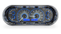 Dakota Digital Recessed Oval Gauges - Carbon Fiber Face - Blue Display