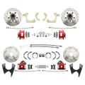 DBK55581012FSLX-R  - 1955-1958 GM Full Size Front & Rear  Disc Brake Kit Red Powder Coated Calipers Drilled/Slotted Rotors (Impala, Bel Air, Biscayne)