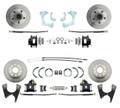 DBK59641012FS-B  - 1959-1964 Full Size Chevy Complete Front & Rear Disc Brake Conversion Kit w/ Powder Coated Black Calipers