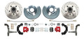 DBK6272LXR - 1962-1972 Mopar B&E High Performance Disc Brake Conversion Kit w/ Red Powder Coated Calipers
