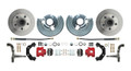 DBK6272R - 1962-1972 Mopar B&E Body Standard Disc Brake Conversion Kit w/ Red Powder Coated Calipers